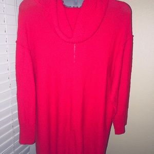 Vince Camuto Fire Glow Red Sweater Cowl Neck